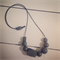 Stone Grey #stella Wood Bead Necklace